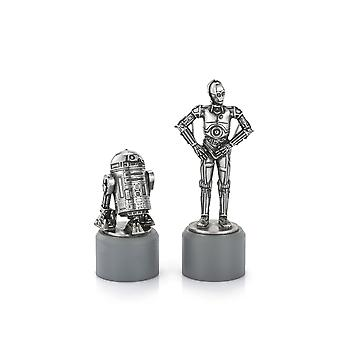 Star Wars By Royal Selangor 0179002R R2-D2 & C-3PO Knight Chess Piece Pair