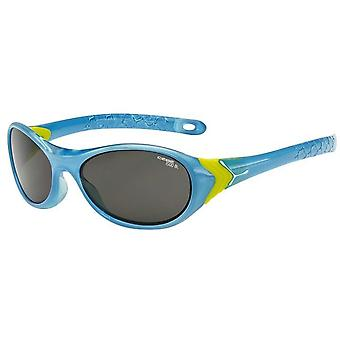 Cebe Cricket Sunglasses (Crystal Blue Lime Frame 1500 Grey Blue Light Category 3 Lens)
