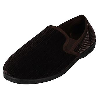 Mens Spot On Elasticated Side Gussets Slippers