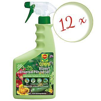 Sparset: 12 x COMPO Duaxo® Universal Mushroom-Free AF, 750 ml