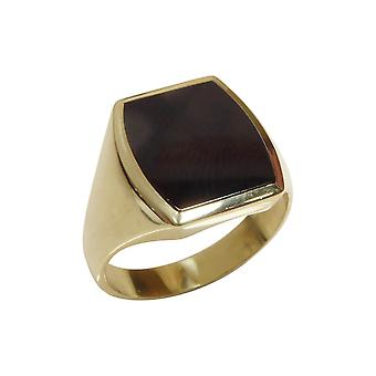 Golden men seal ring with onyx
