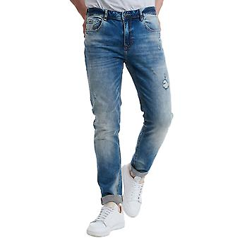 Funky Buddha Men's Regular Slim Fit Jeans With Washed Effects