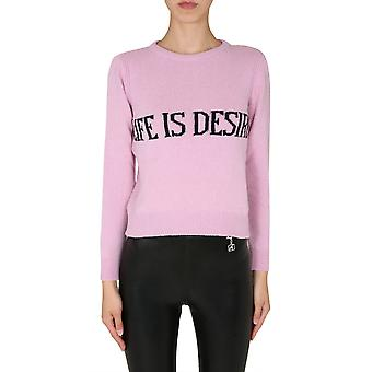 Alberta Ferretti 095366031240 Kvinder's Pink Cashmere Sweater