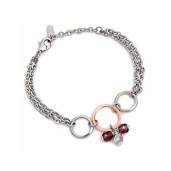 ZABLE Stainless Steel Red Crystal Bracelet