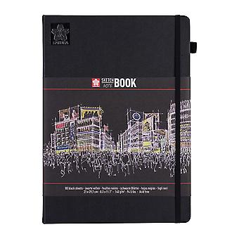 Sakura Sketch Note Book with 80 Sheets 21 x 29.7 cm (Black Paper)