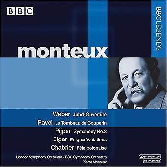 Pierre Montuex - Weber: Jubel-Ouvert Re; Ravel: Le Tombeau De Couperin; Pijper: Symphony No. 3: Etc. [CD] USA import