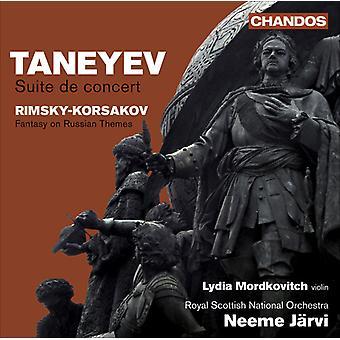 Taneyev/Rimsky-Korsakov - Taneyev: Suite De Concert; Rimsky-Korsakov: Fantasy on Russian Themes [CD] USA import