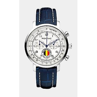 Pontiac Men's Watch 101 Belgians - 24 Hours of Le Mans Chronograph P40010BEL