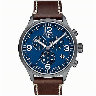 Tissot T116.617.36.047.00 T-Sport Xl Blue Dial Leder Heren's Horloge
