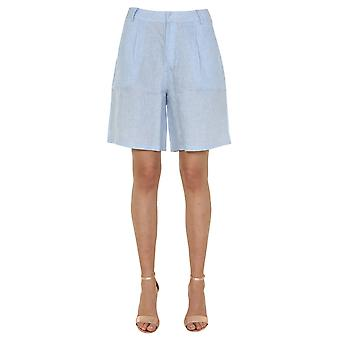 Jovonna London Luannablue Women's Blue Linen Shorts