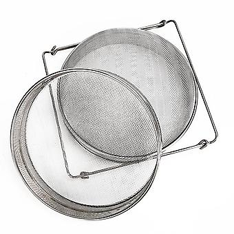 Double Sieve Stainless Steel Beekeeping, Reusable Honey Yogurt Strainer