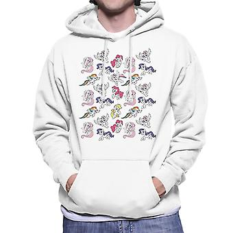 My Little Pony Flying Montage Men's Hooded Sweatshirt