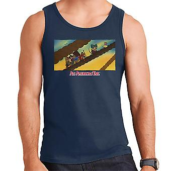 An American Tail Fievel And Family On Rope Men-apos;s Vest