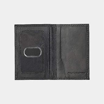 Primehide Kohlefaser und Leder Herren Karte Brieftasche secure RFID Blocking 9203 - Schwarz