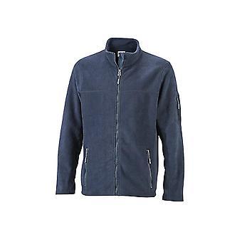 James og Nicholson Mens Workwear Fleece jakke