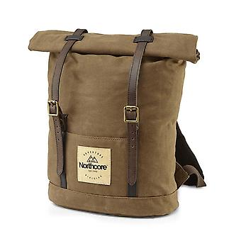 Northcore waxed canvas backpack - chocolate