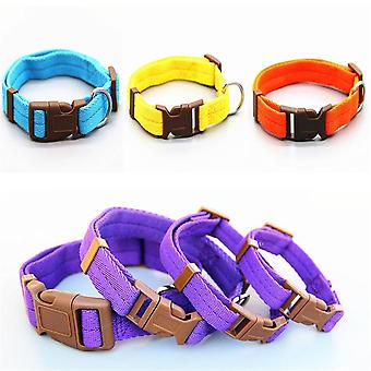 Dog Collar Nylon 7 Colors Are Optional Neck Strap Adjustable 4 Sizes For Small And Medium Dogs Puppies