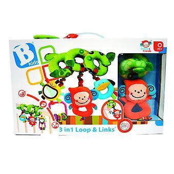 Baby Toys - B Kids - 3 in 1 Loop & Links Games New 3794