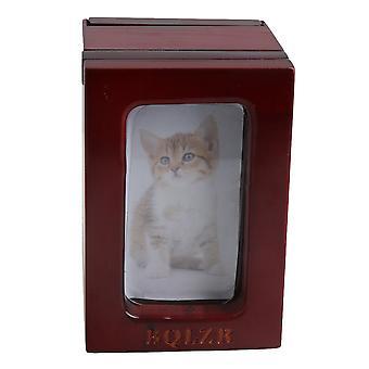 Telescopic Photo Frame Pet Dog Urn Ashes Box 9*8.6*13cm