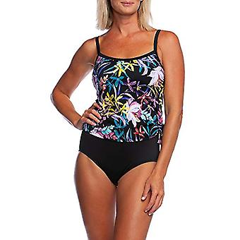 Maxine Of Hollywood Women's Scoop Neck Faux Side Tie One Piece Swimsuit, Blac...