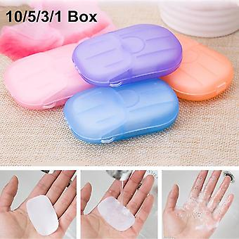 Portable Disposable ,travel Boxed - Hand Soap Paper Foaming Scented Bath Wash