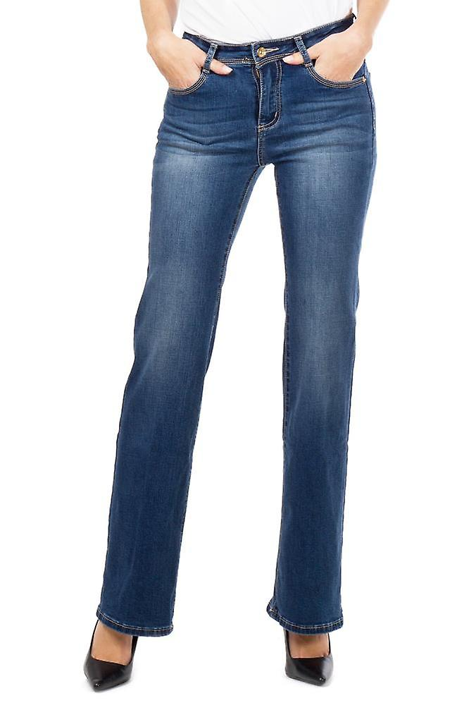 Flared Denim Faded Bootcut Jeans