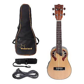 23inch Spruce Ukulele Kit Guitar 4 String Guitar for Basic Players