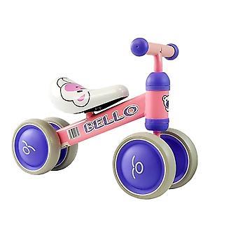 Walking cykel Bello rosa - dubbla hjul - 56x24.5x41 cm