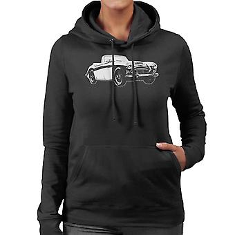 Austin Healey 3000 British Motor Heritage Women's Hooded Sweatshirt