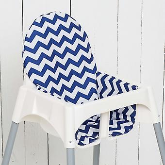 Puckdaddy Sitzkissen Luca für IKEA Hochstuhl Antilop Chevron Blau Weiß