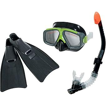 Intex Snorkel, Mask and Flippers Diving Kit Adult sizes 8-11 Surf Rider 55959