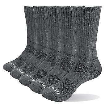 Men Thick Breathable Cotton Cushion Crew, Hiking Trekking Socks