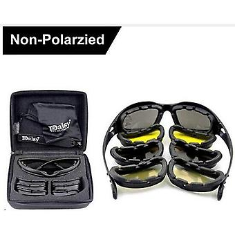 "Tactical Men""s Polarized Glasses -military Hunting Goggles 4 Lens Kit"