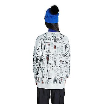 Desigual by Mr Christian Lacroix Erie Sweatshirt with Fashion Drawings 20WWSK23