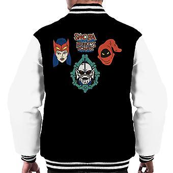 She-Ra Princess Of Power Character Heads Men's Varsity Jacket