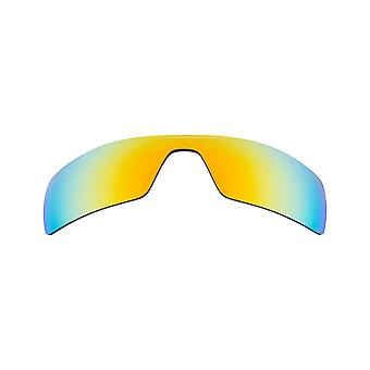Replacement Lenses for Oakley Oil Rig Sunglasses Anti-Scratch Gold Mirror