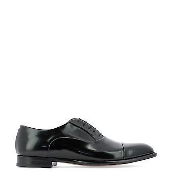 Fabi Fu7890 Men's Black Patent Leather Lace-up Shoes