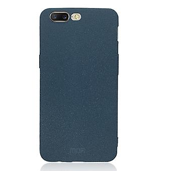 MOFI for OnePlus 5 TPU Silicone Soft Forsted Back Protective Case Cover (Blue)