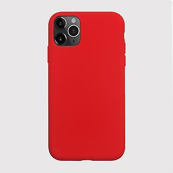 Red liquid silicone iphone 11 pro case