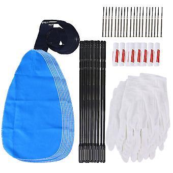 100 Stück perfekte Flöte Wartung Kit Reinigung Pflege Set für Flöte sauber
