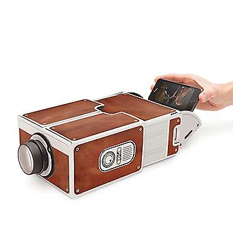 Mini Smart Phone Projector Cinema Portable Home Use Diy Cardboard Family