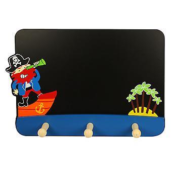 Bigjigs Toys Blackboard with Coat Hooks (Pirate)