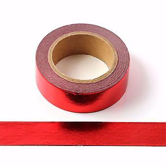 Punainen folio Washi Teippi Koristeellinen Itseliimautuva teippi 15mm x 10m
