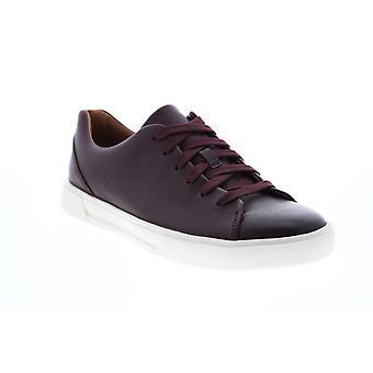 Clarks Un Costa Lace Herren Rot Leder Lifestyle Sneakers Schuhe