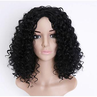 European And American Short Curly Hair Wig Female African Black Small Volume Explosion Head Chemical Fiber Hood