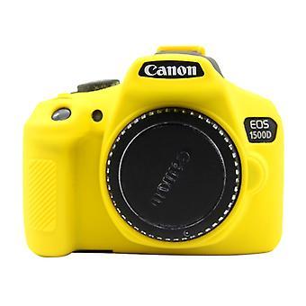 PULUZ Soft Silicone Protective Case for Canon EOS 1300D / 1500D(Yellow)