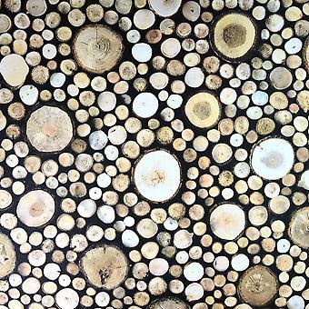 Erismann Wooden Logs Brown Wallpaper