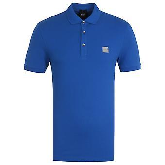 BOSS Passenger Slim Fit Blue Pique Polo Shirt