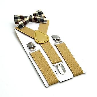 Suspenders Bowtie - Solid British Wedding Style Braces