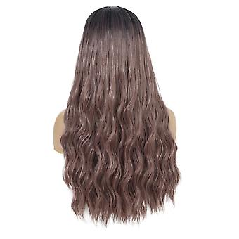 Women's Wig Women's Wavy Curly Hair Women's Wig Head Cover Gradient Long Curly Hair
